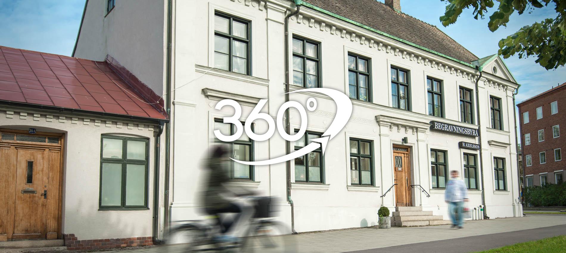 Axelssons Begravningsbyrå Lund - 360° virtuell rundvandring - Varmt välkommen in