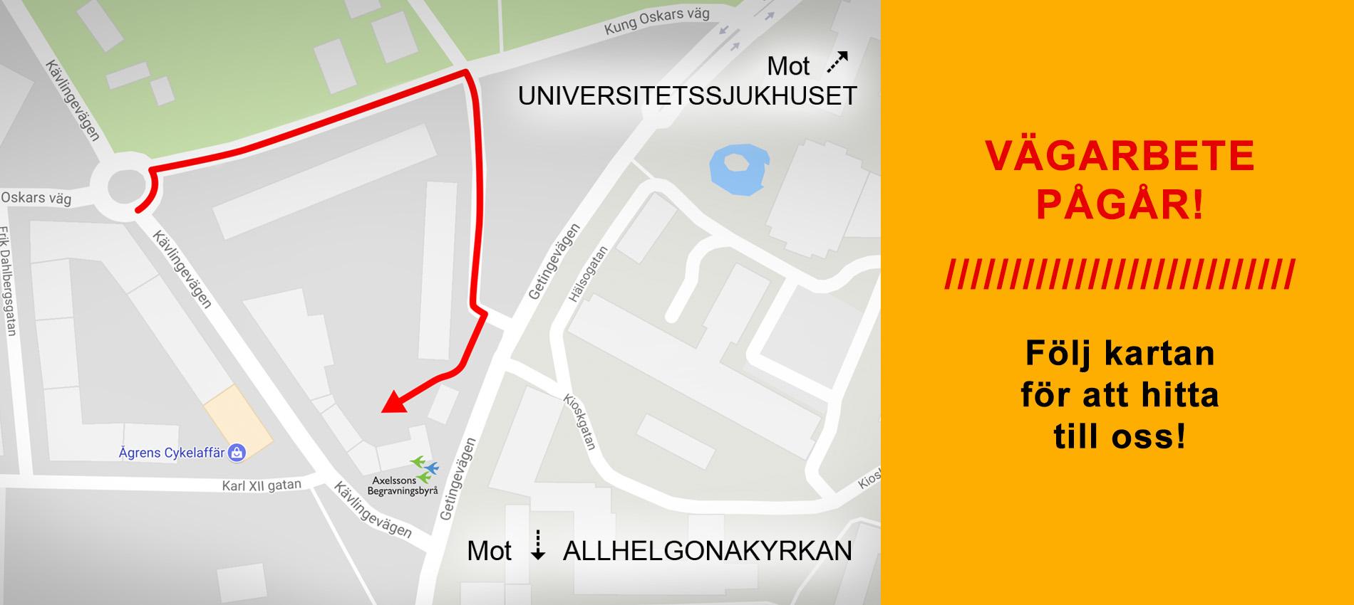 Axelssons Begravningsbyrå Lund: Hitta till oss