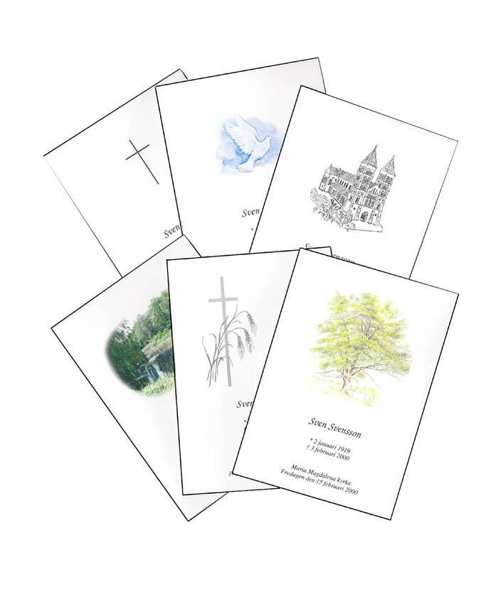Programkort till begravningar i Lund med omnejd - bild_programkort